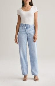 Criss Cross Jeans that Austyn Paula loves with high waist and offset zipper