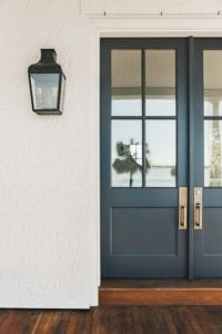 Blue Door with White Tile and Wooden Floors; highlighting Kara from Blue Alice Design's favourite design eras